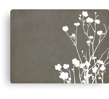Buttercups in Gray & White Canvas Print