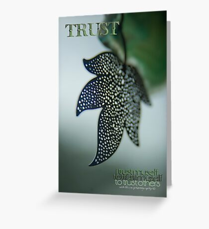 Trust To Trust © Vicki Ferrari Photography Greeting Card