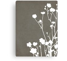 Buttercups in Gray & White Canvas Print