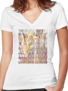 High Diver Fantasy Women's Fitted V-Neck T-Shirt