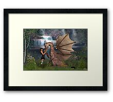 Dragon Love Framed Print