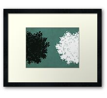 Queen Anne's Lace in Blue & White Framed Print