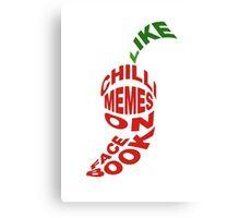 "Chilli Memes ""Word Pepper"" Canvas Print"
