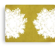 Queen Anne's Lace in Mustard & White Canvas Print
