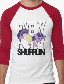 Everypony Shufflin in Color!(For White Shirt) Men's Baseball ¾ T-Shirt