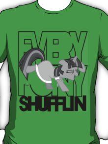Everypony Shufflin in Greyscale!(For White Shirt) T-Shirt