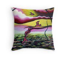 Marine Synchronicity Throw Pillow