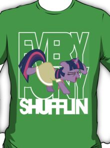 Everypony Shufflin in Color!(For Black Shirt) T-Shirt
