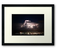 Spectacular Lightning Storm #1, Port Lincoln, South Australia Framed Print
