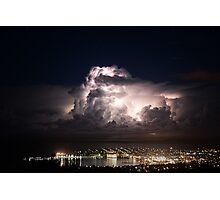 Spectacular Lightning Storm #1, Port Lincoln, South Australia Photographic Print