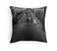 A Woman Gathering Stillness Throw Pillow