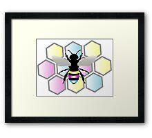 Pan Bee Framed Print