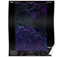 USGS Topo Map Washington State WA Mount Hull 242499 2001 24000 Inverted Poster