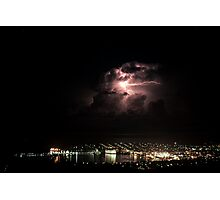 Spectacular Lightning Storm #2 - Port Lincoln, South Australia Photographic Print