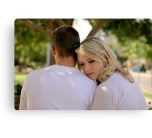 Somebody to lean on Canvas Print