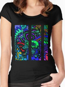CRUX alternate colour - psychedelic artwork Women's Fitted Scoop T-Shirt