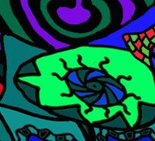 CRUX alternate colour - psychedelic artwork Sticker