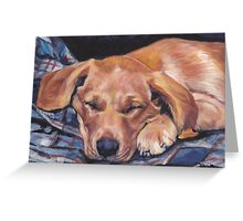 Labrador Retriever Fine Art Painting Greeting Card