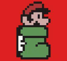Mario in the Kuribo Shoe - No Text Kids Clothes