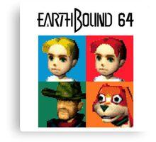 MOTHER 3 / EarthBound 64 Tiles (EarthBound 64 Logo) Canvas Print