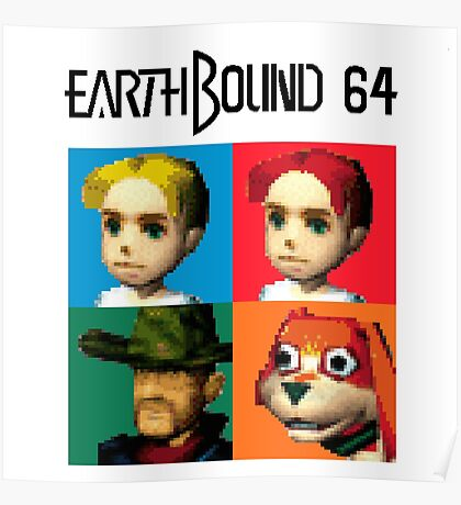 MOTHER 3 / EarthBound 64 Tiles (EarthBound 64 Logo) Poster