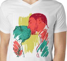 kiss me Mens V-Neck T-Shirt