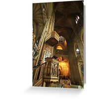 Canterbury Cathedral Pulpit Greeting Card