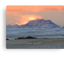 Mountainview Sunset Canvas Print