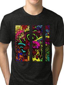 CRUX - Psychedelic artwork Tri-blend T-Shirt