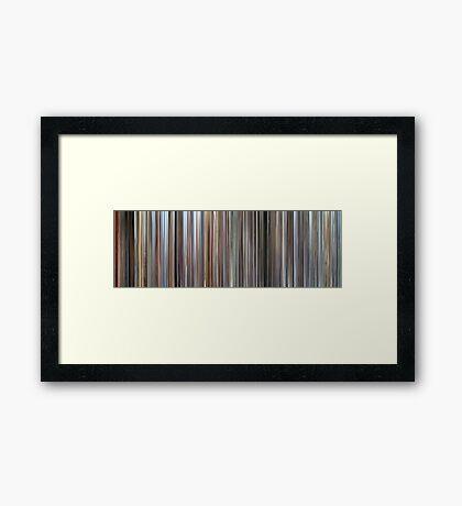 Moviebarcode: Plein soleil (1960) Framed Print