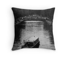 Canal St Martin Throw Pillow