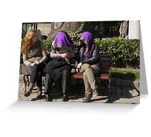 People in Istanbul - Sharing a shawl Greeting Card