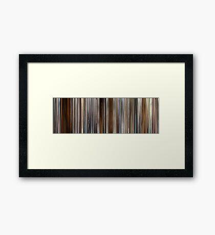 Moviebarcode: Precious (2009) Framed Print