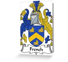 French Coat of Arms / French Family Crest Greeting Card