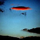 UFO over Sicily sky made by clouds. And Sphinx outline. by Turi Caggegi