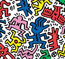 Keith Haring -Crazy People- by GiulyB