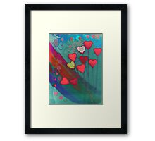 Hearts in the wind Framed Print