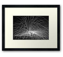 HDR B&W SPINNING Framed Print