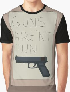 Rick and Morty: Guns Are'nt Fun Graphic T-Shirt