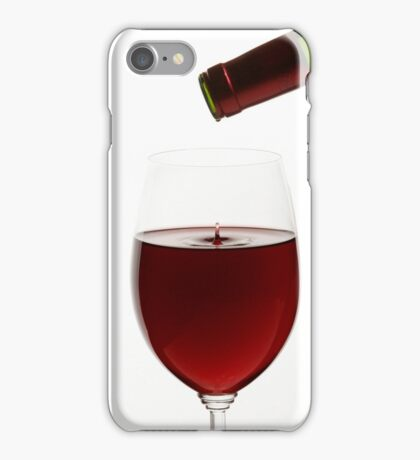 Red Wine On White Background With Droplet iPhone Case/Skin