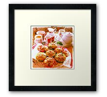 christmas morning muffins Framed Print
