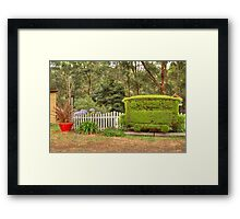 Station Topiary Framed Print