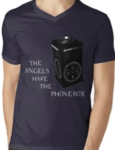 Superwho - The Angels have the phone box Mens V-Neck T-Shirt