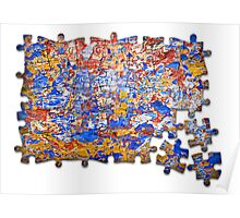 Abstract jigsaw Poster