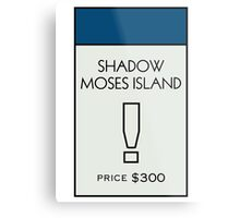 Shadow Moses Island - Property Card Metal Print