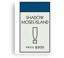 Shadow Moses Island - Property Card Canvas Print