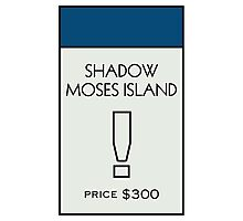 Shadow Moses Island - Property Card Photographic Print