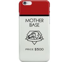 Mother Base - Property Card iPhone Case/Skin