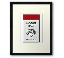 Mother Base - Property Card Framed Print