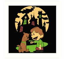 Calvin and Hobbes Scooby Art Print
